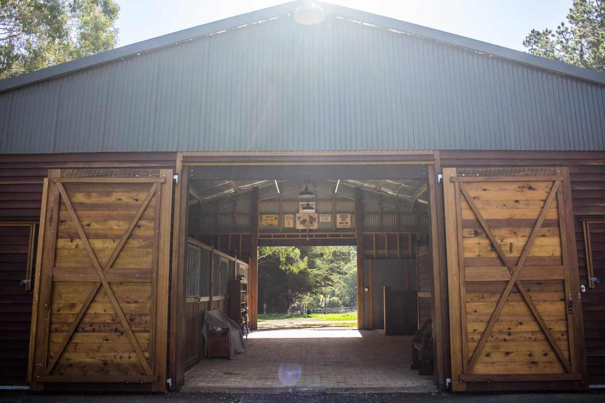 Horse stable barn doors