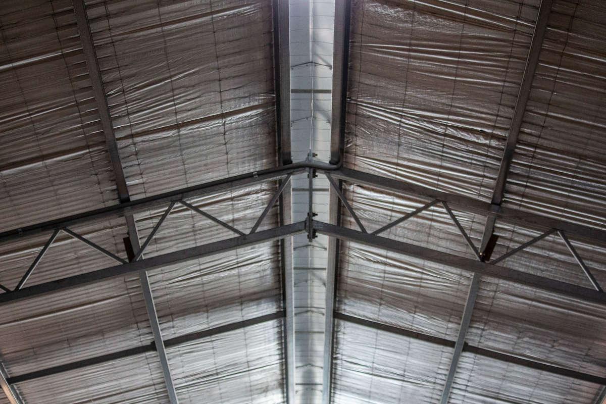Steel framing inside shearing shed - Boorowa