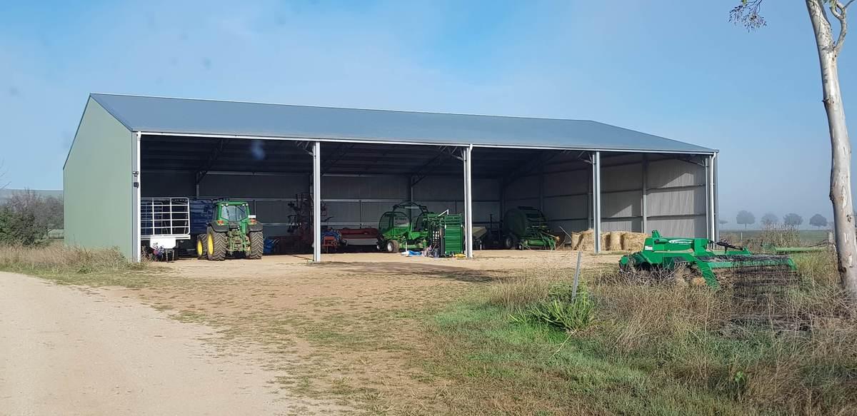 Machinery storage shed - Gormans Hill