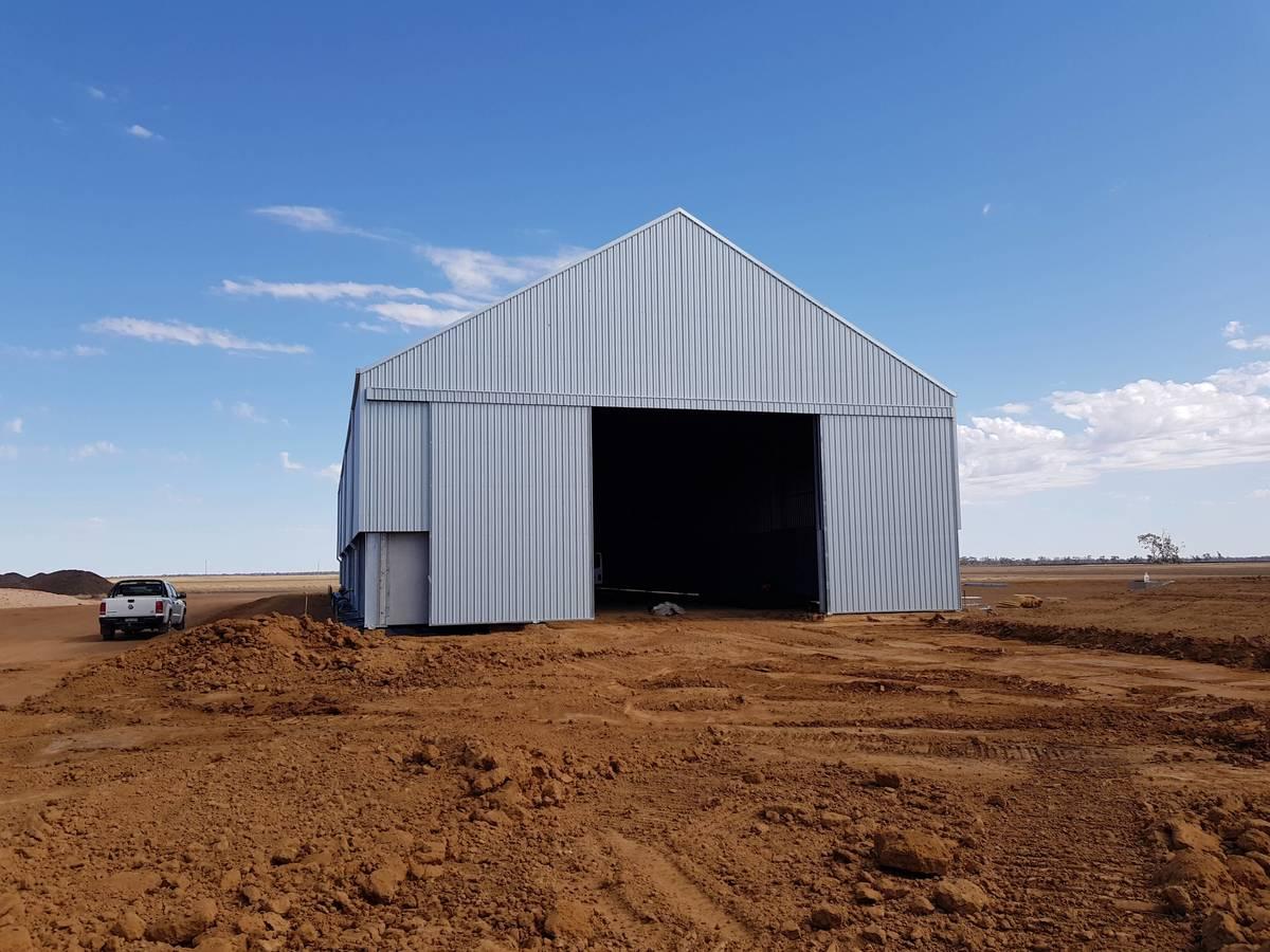 Grain shed in Merah North