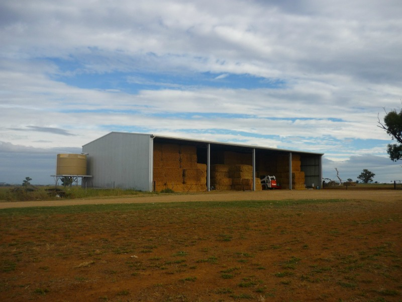 Slanted view of hay shed - Canowindra