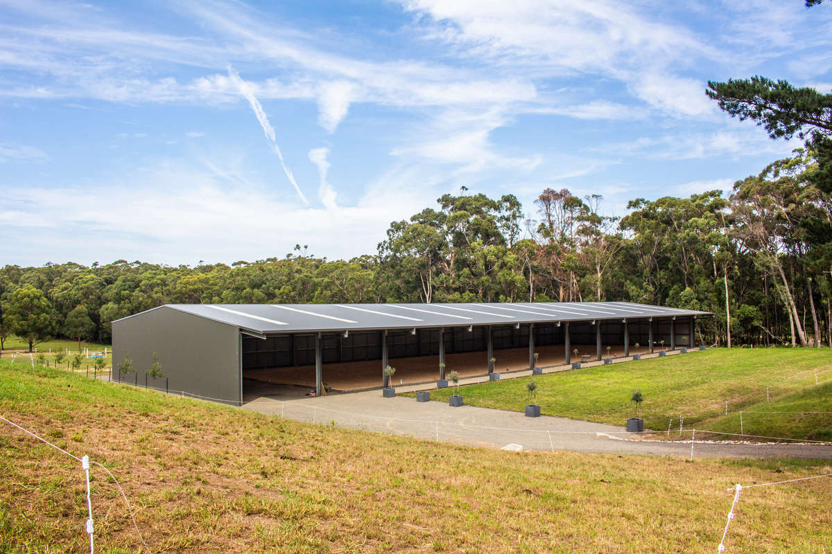Dressage arena - Mossvale - Full view