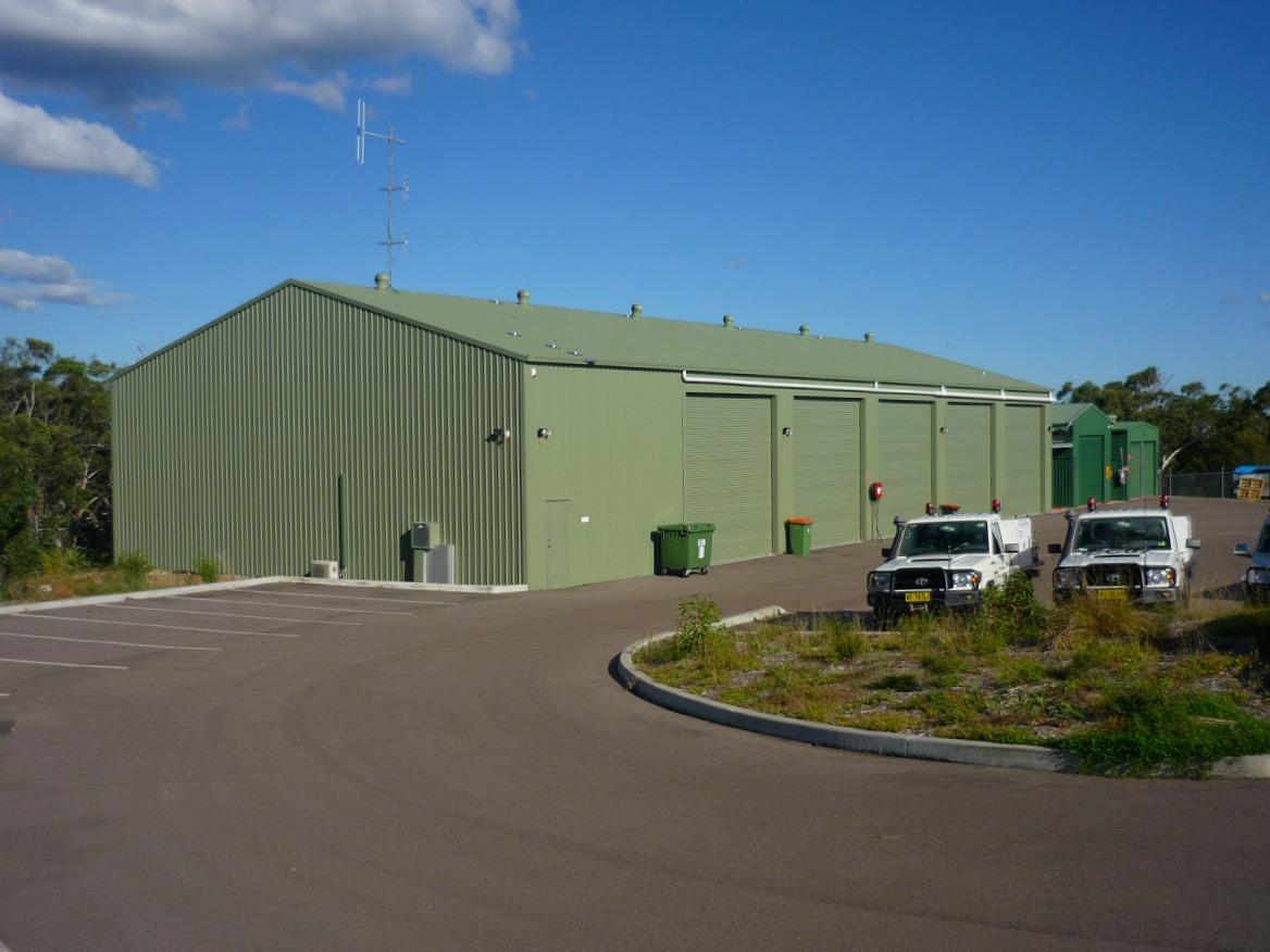 Commercial shed - Lake Munmorah - Side view