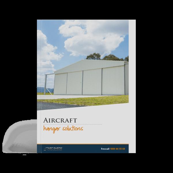 ABC Sheds aircraft hangar brochure